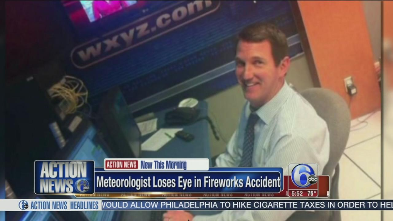 VIDEO: Meteorologist loses eye in fireworks accident
