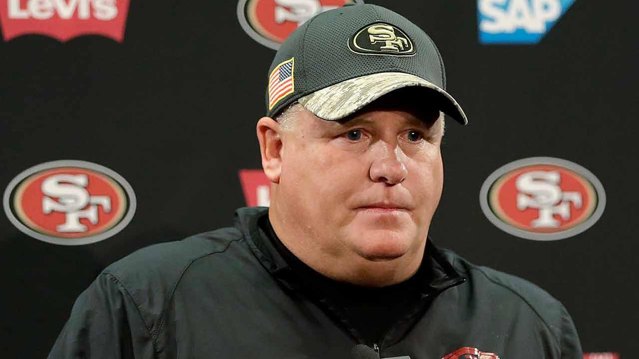San Francisco 49ers coach Chip Kelly speaks at a news conference after the teams NFL football game against the Seattle Seahawks in Santa Clara, Calif., Sunday, Jan. 1, 2017.