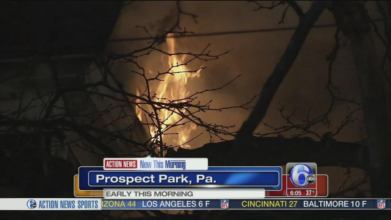Fire damages home in Prospect Park