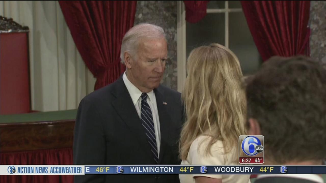 Hot mic picks up V.P. Biden revealing future plans