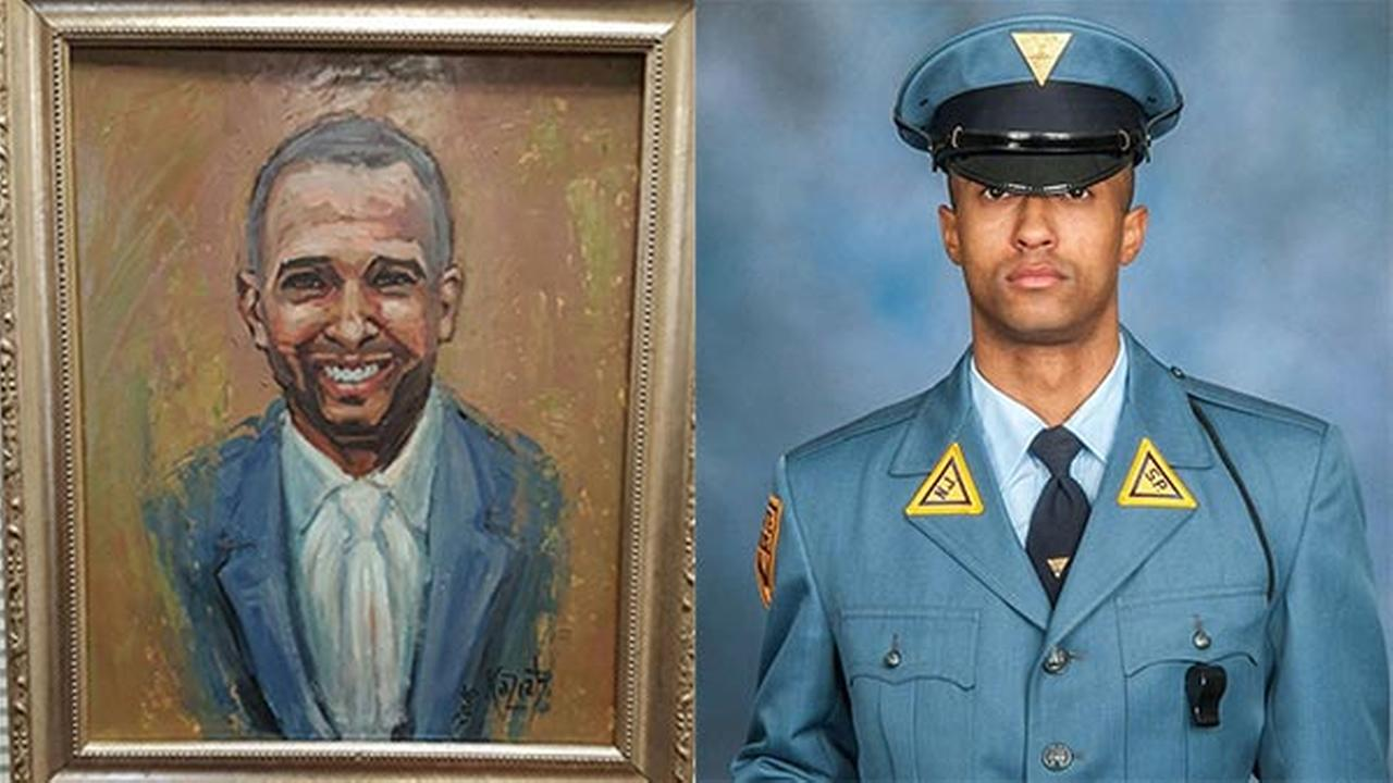NJ State Police receive painting of fallen trooper