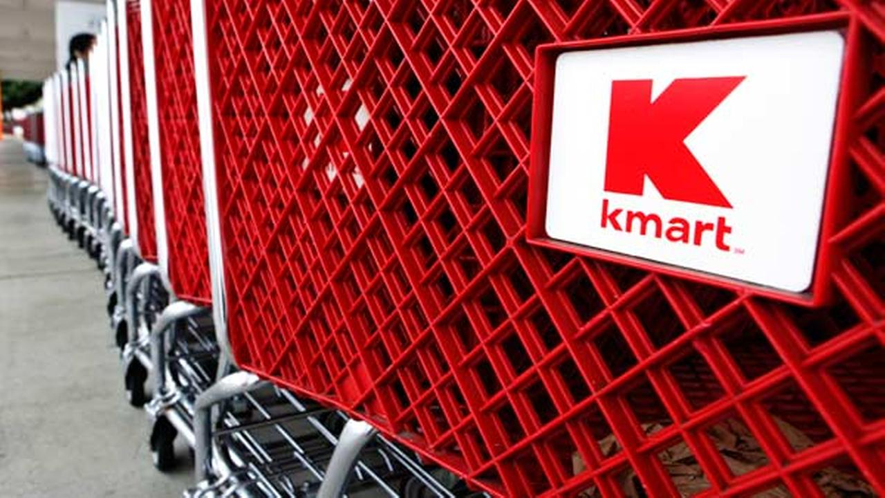FILE: Shopping carts are shown outside of Kmart store in Redwood City, Calif.