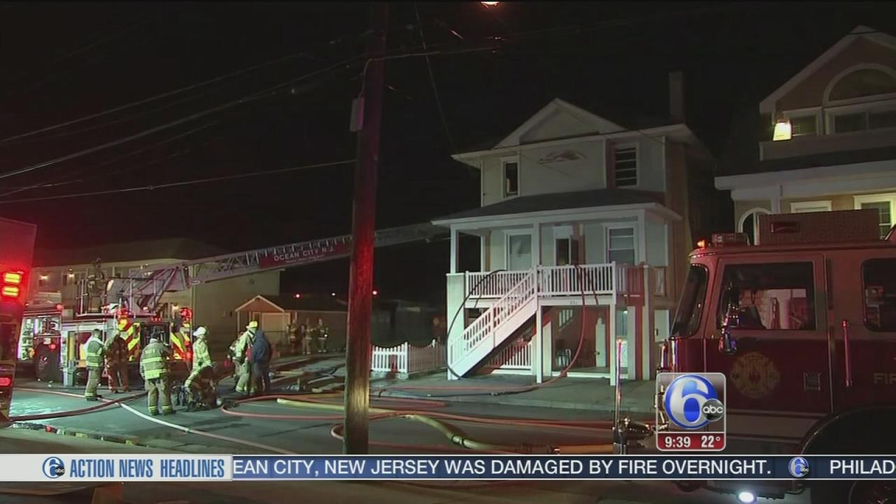 Fire damages 3-story house in Ocean City