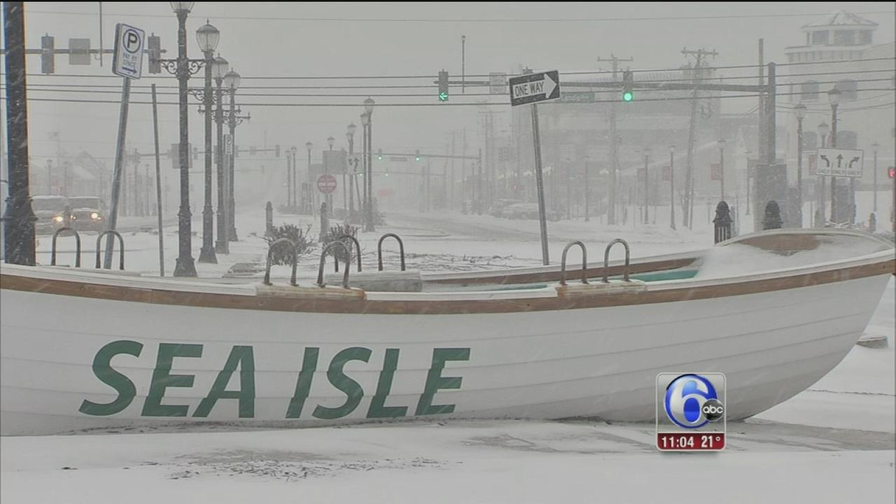 Snow, wind, cold impacting Jersey Shore