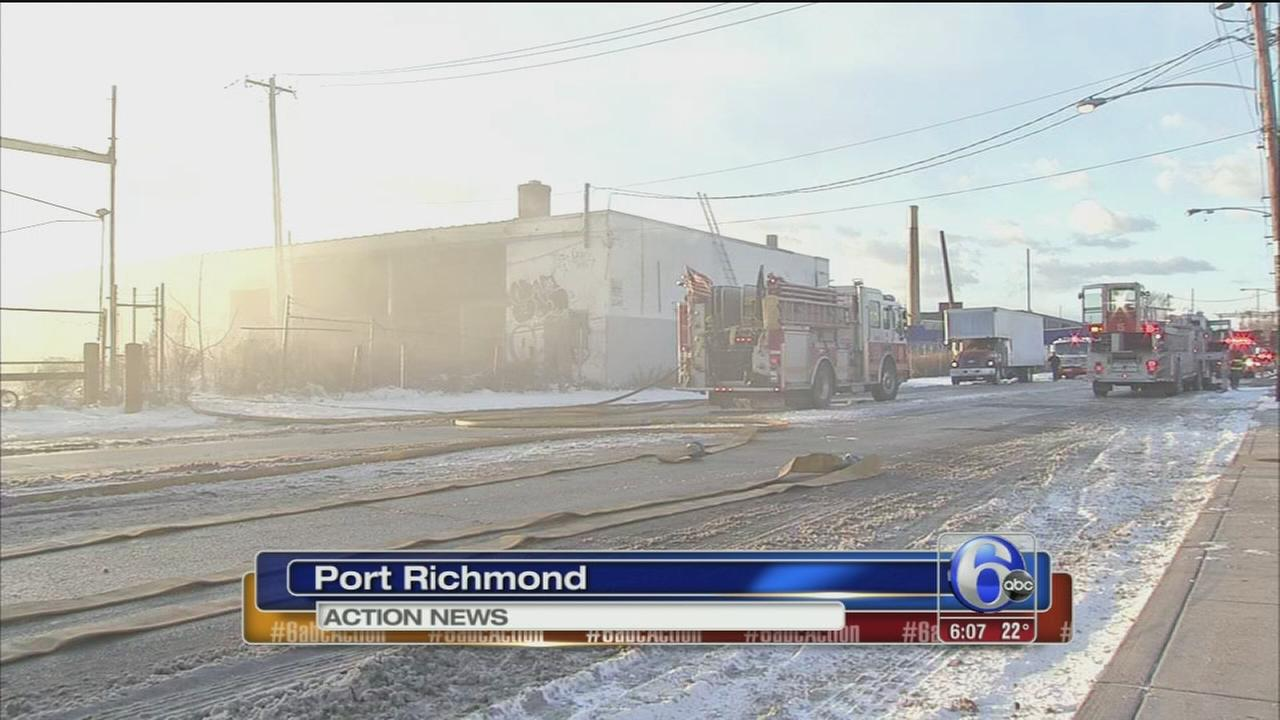 Fire erupts at vacant warehouse in Port Richmond