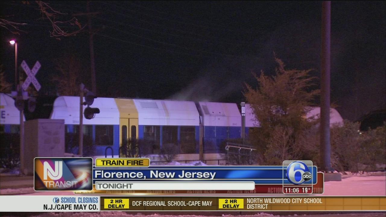 NJ Transit train catches fire in Florence