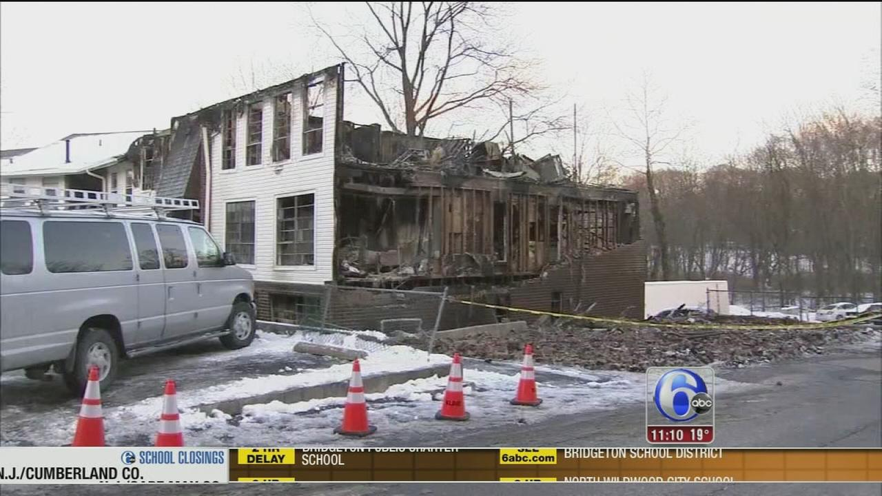 Dozens displaced after 3-alarm apartment fire in Gloucester Twp.