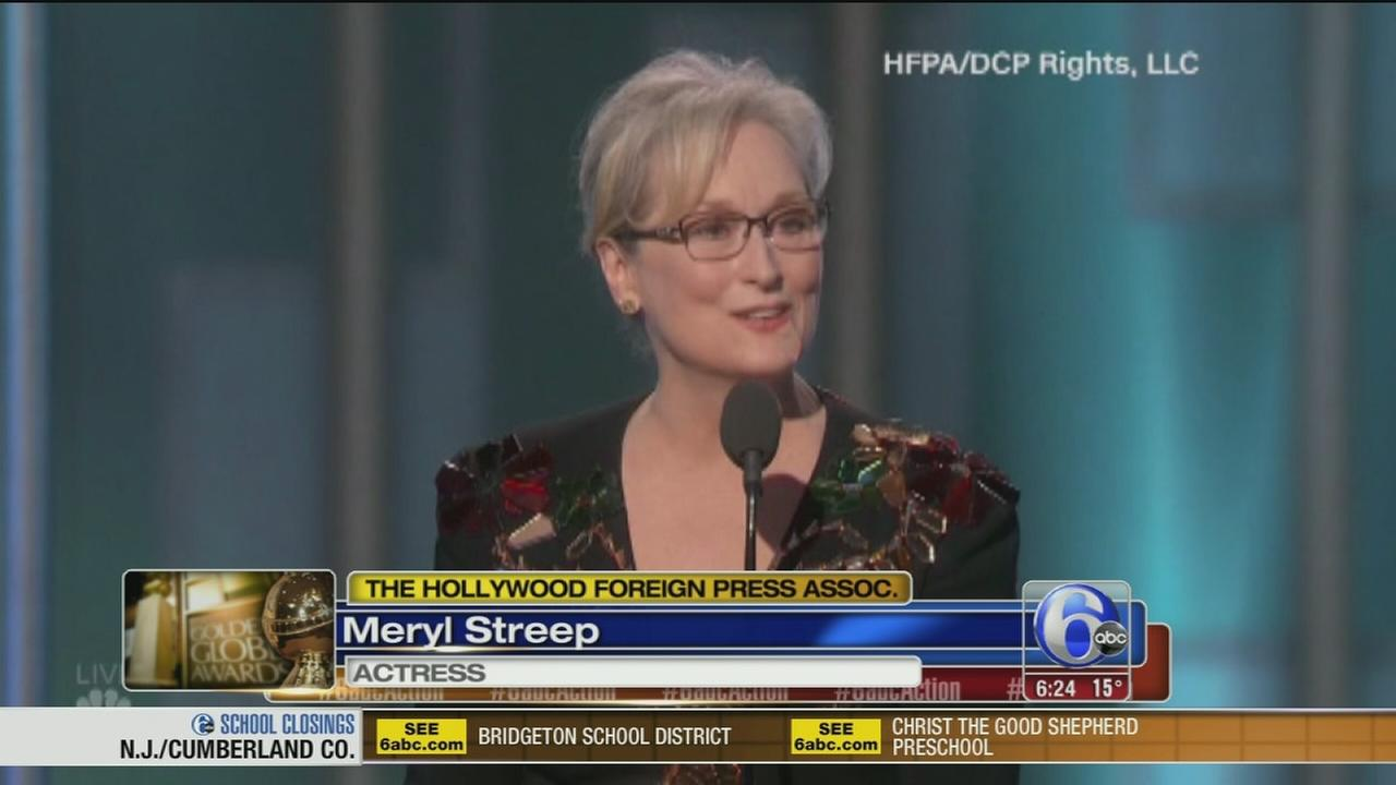 Streep calls out Trump at Golden Globes