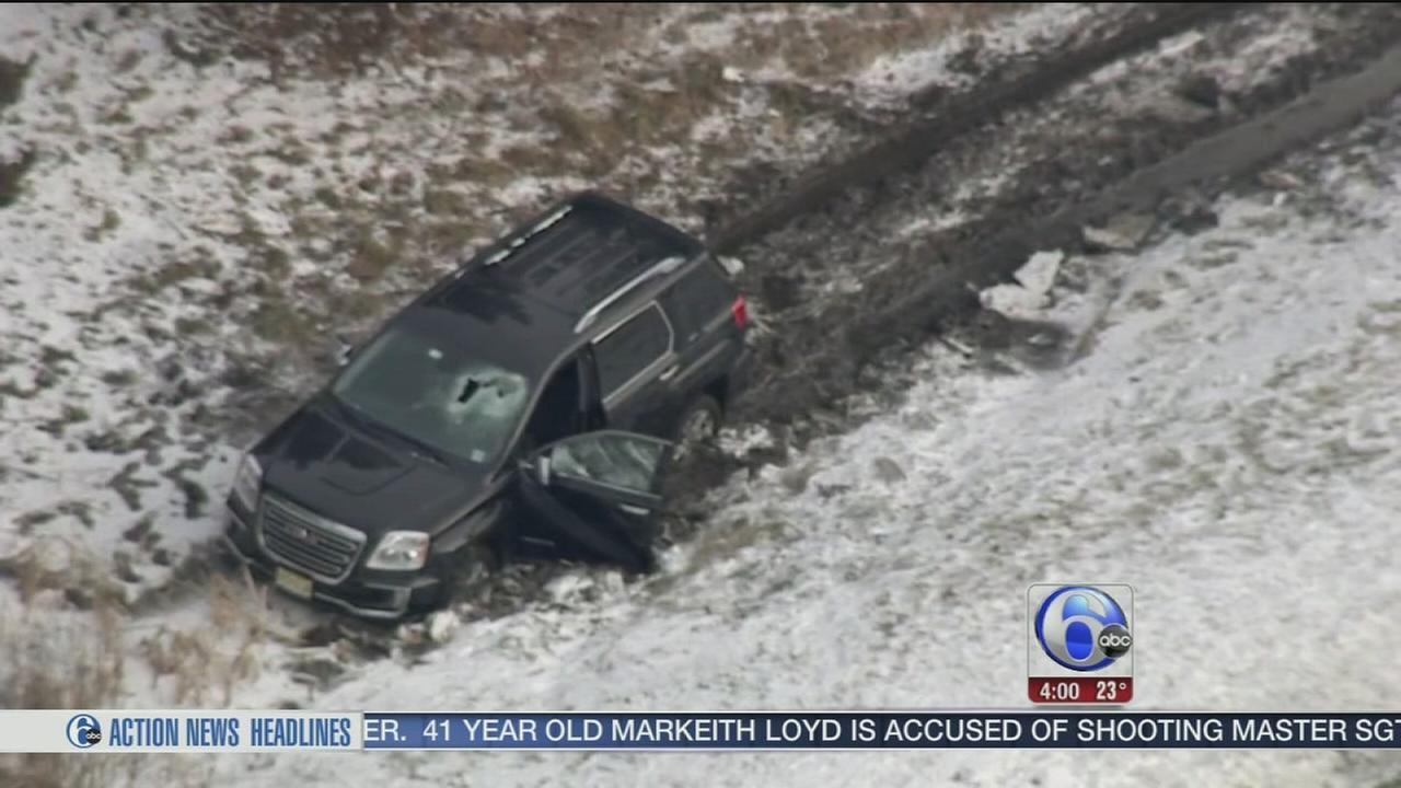 Dumbbell crashes through SUV windshield on NJ Turnpike