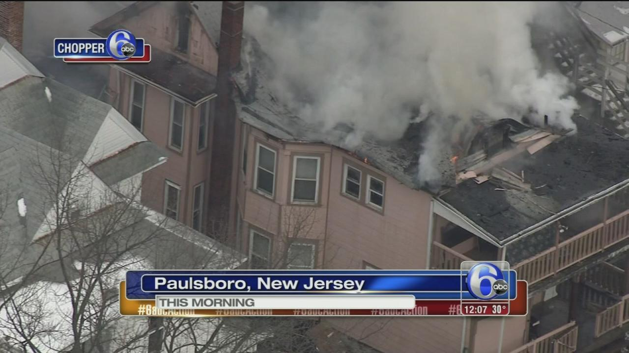 Fire damages home in Paulsboro, NJ