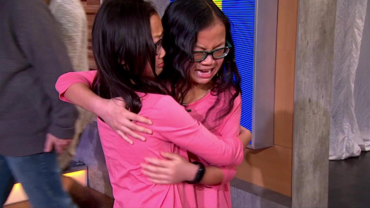 Twin sisters separated at birth reunite on Good Morning America