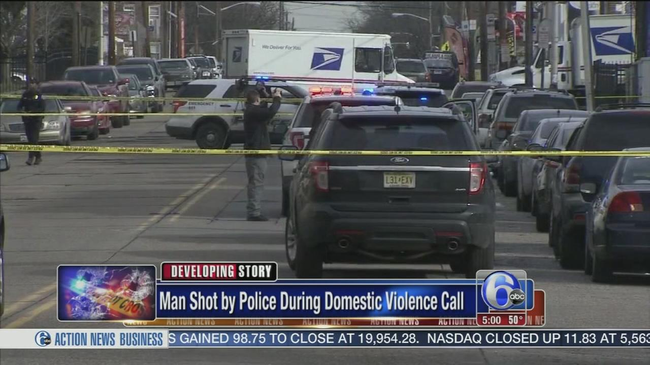 Man shot by police during domestic violence incident
