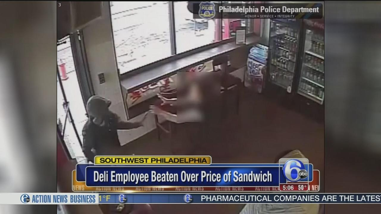 SW Philly deli worker beaten over price of sandwich