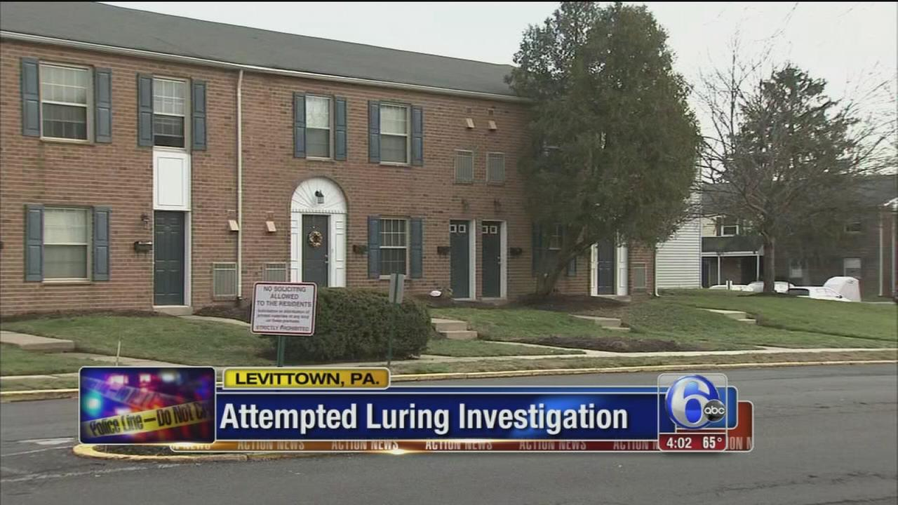 Attempted luring investigation in Bucks County