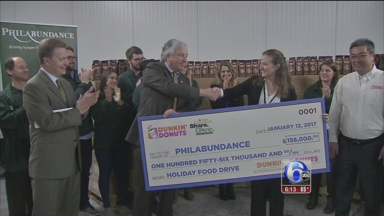 6abc Dunkin Donuts Holiday Food Drive a huge success