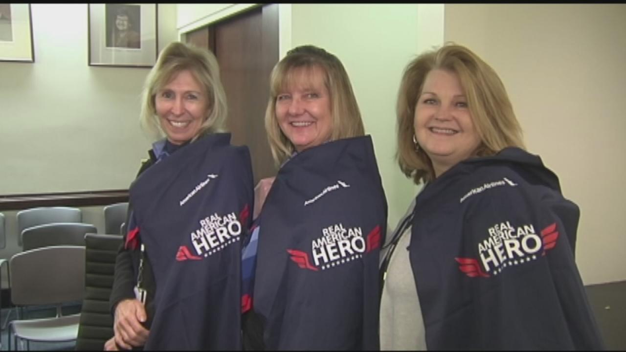 American Airlines honors 3 employees