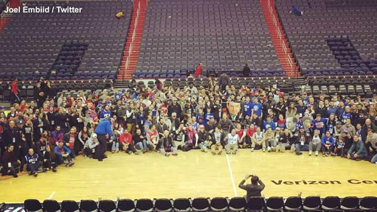 Hundreds of Sixers fans bus to D.C. to support Joel Embiid