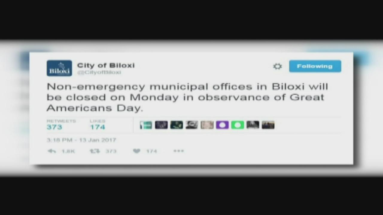 Reax to tweet by Biloxi city officials