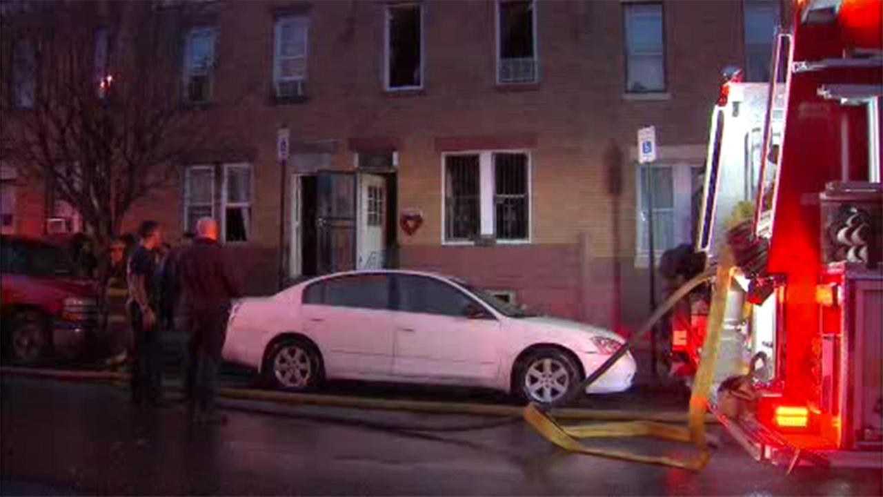 Firefighters responded to a house fire in North Philadelphia.
