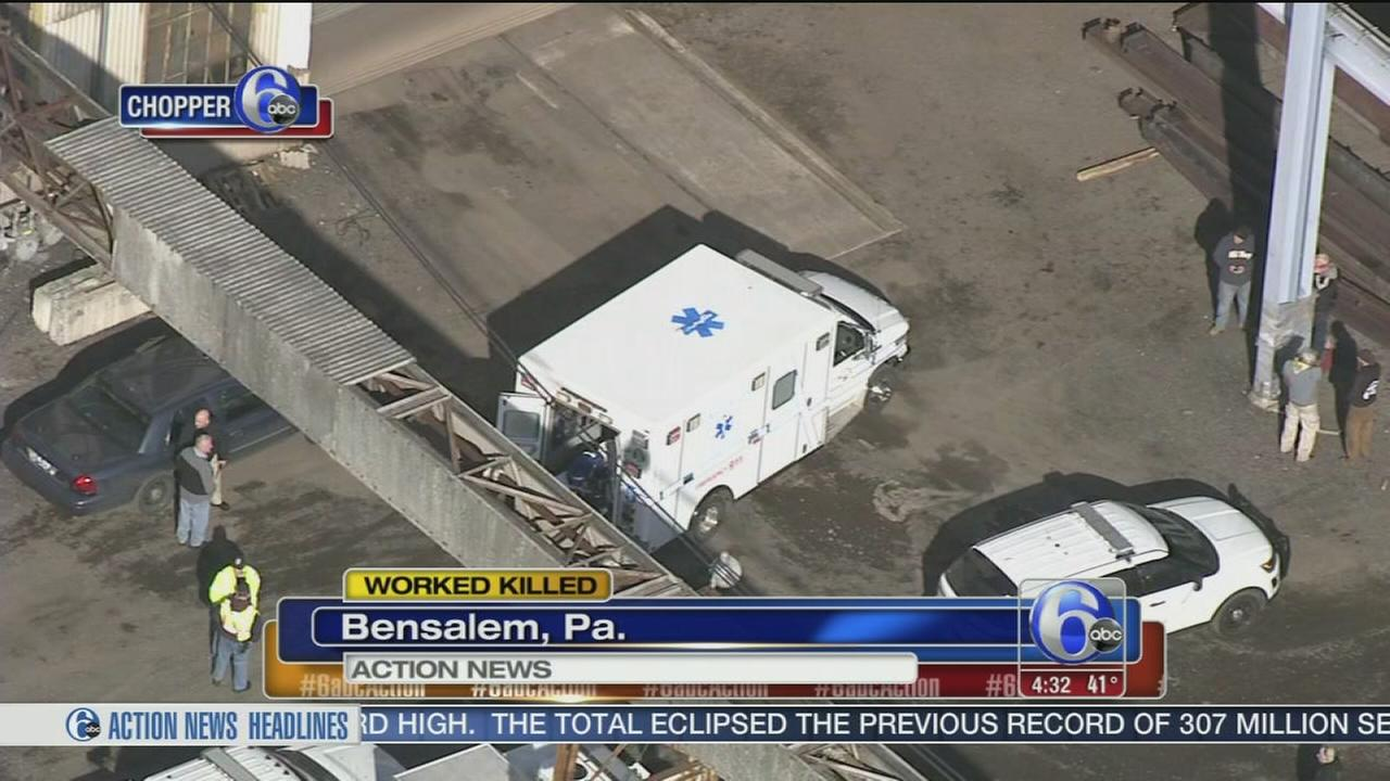 Worker killed by falling steel beam in Bensalem