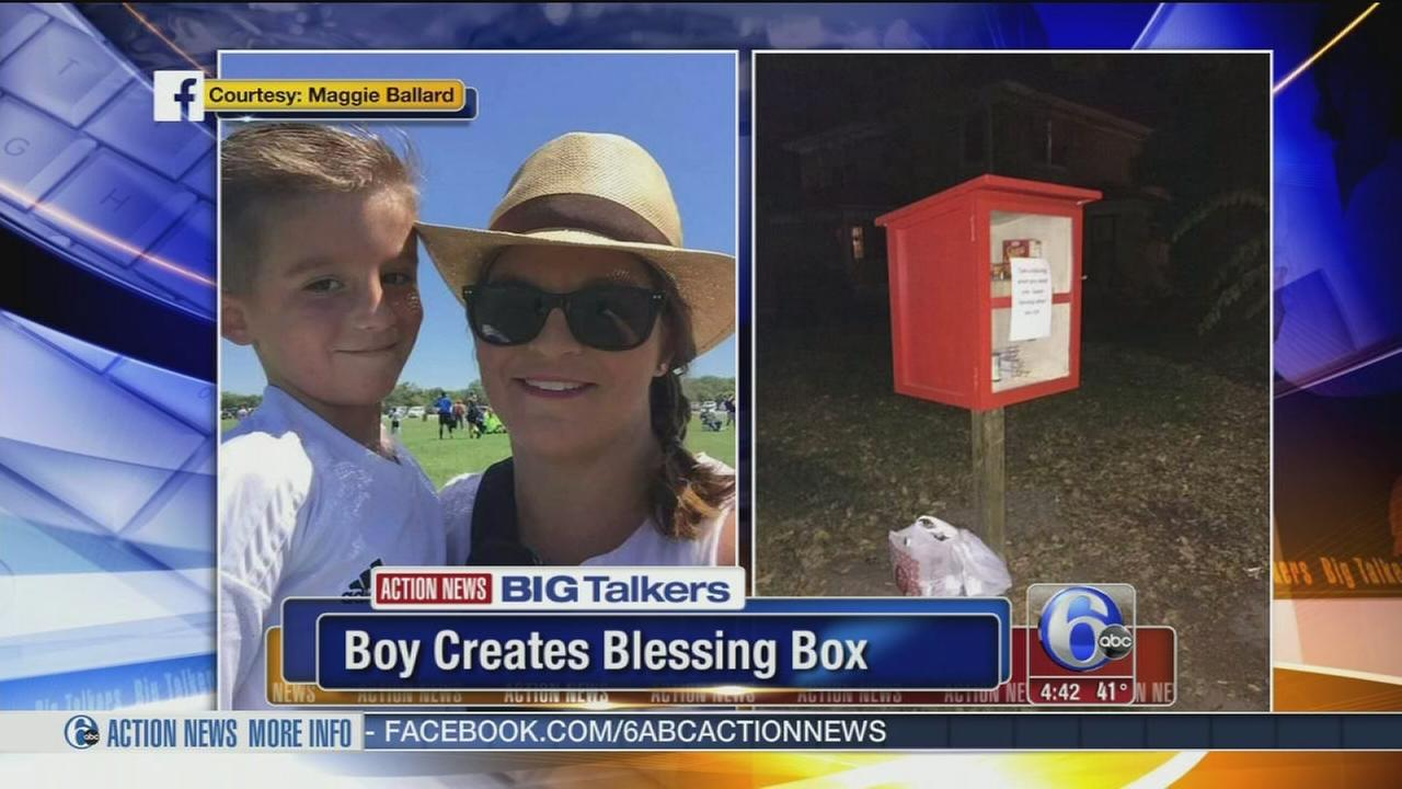 Boy creates Blessing Box
