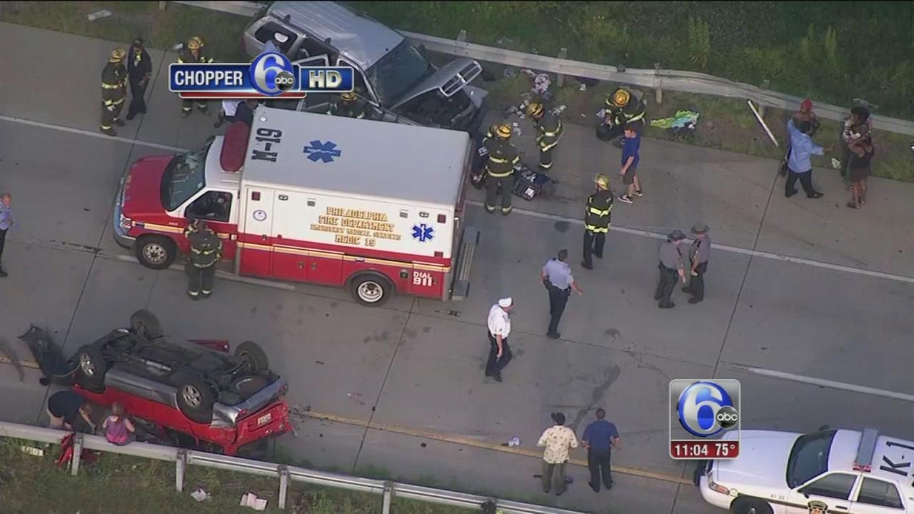 VIDEO: 4 injured, including baby, in I-95 crash