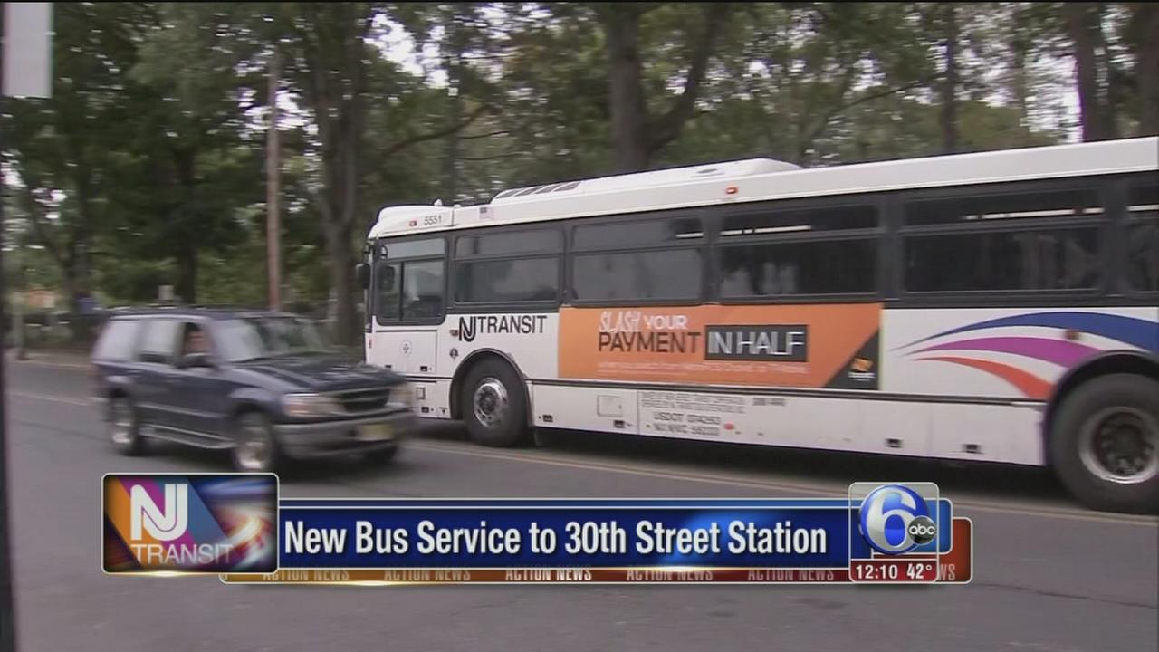 NJ Transit buses now stopping at 30th Street