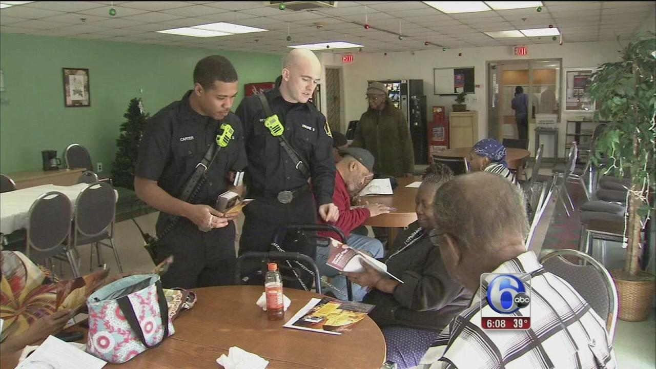 Philly firefighters visit seniors on MLK Day