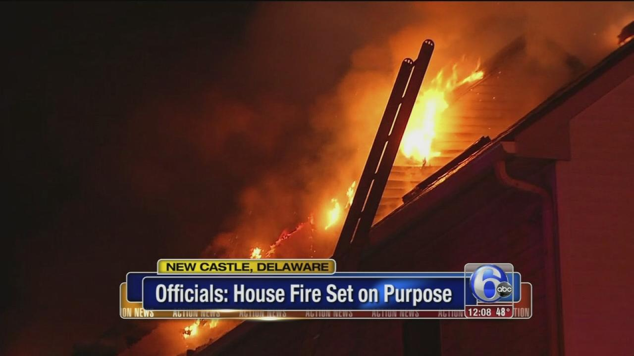 New Castle fire intentionally set