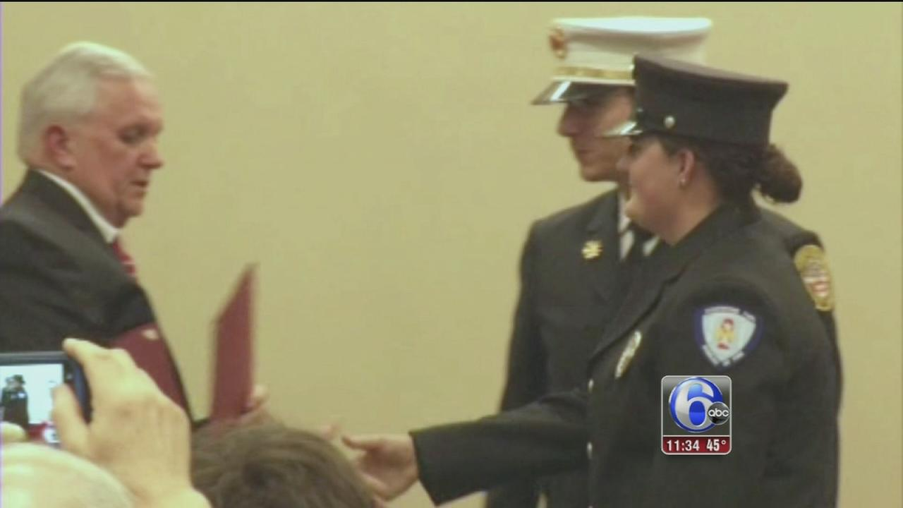 Firefighters honored in Delaware Co.
