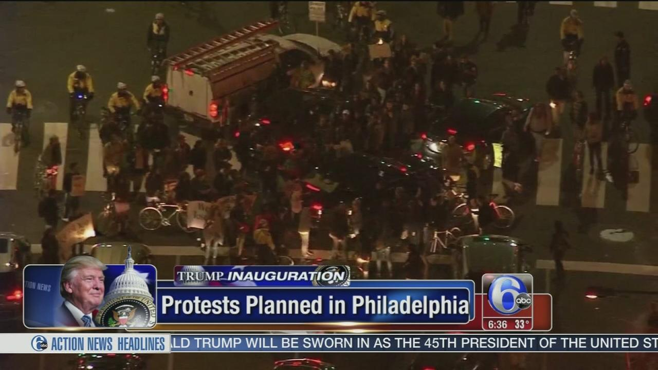 Inauguration protests expected in Center City