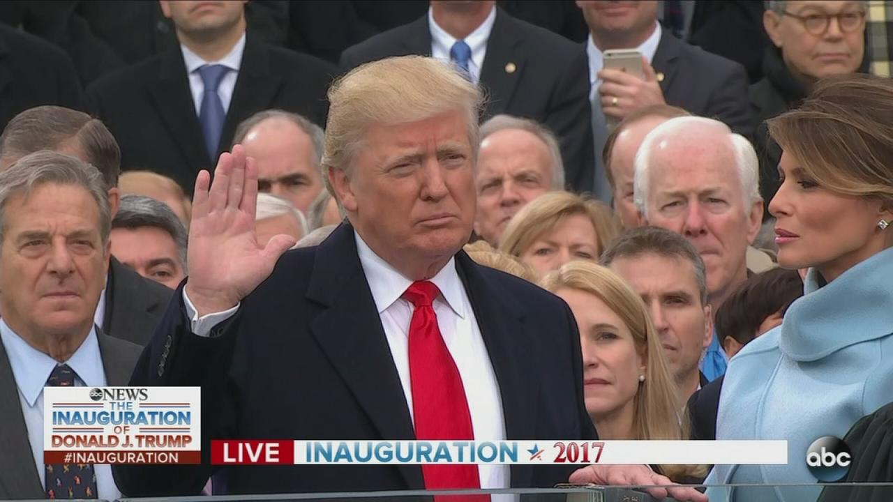 Donald Trump takes presidential oath of office