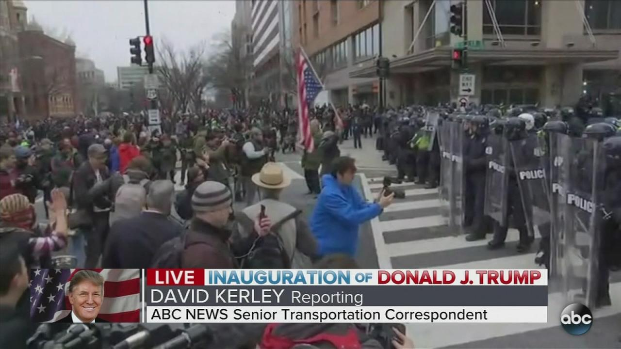 Protests in Washington D.C. after inauguration