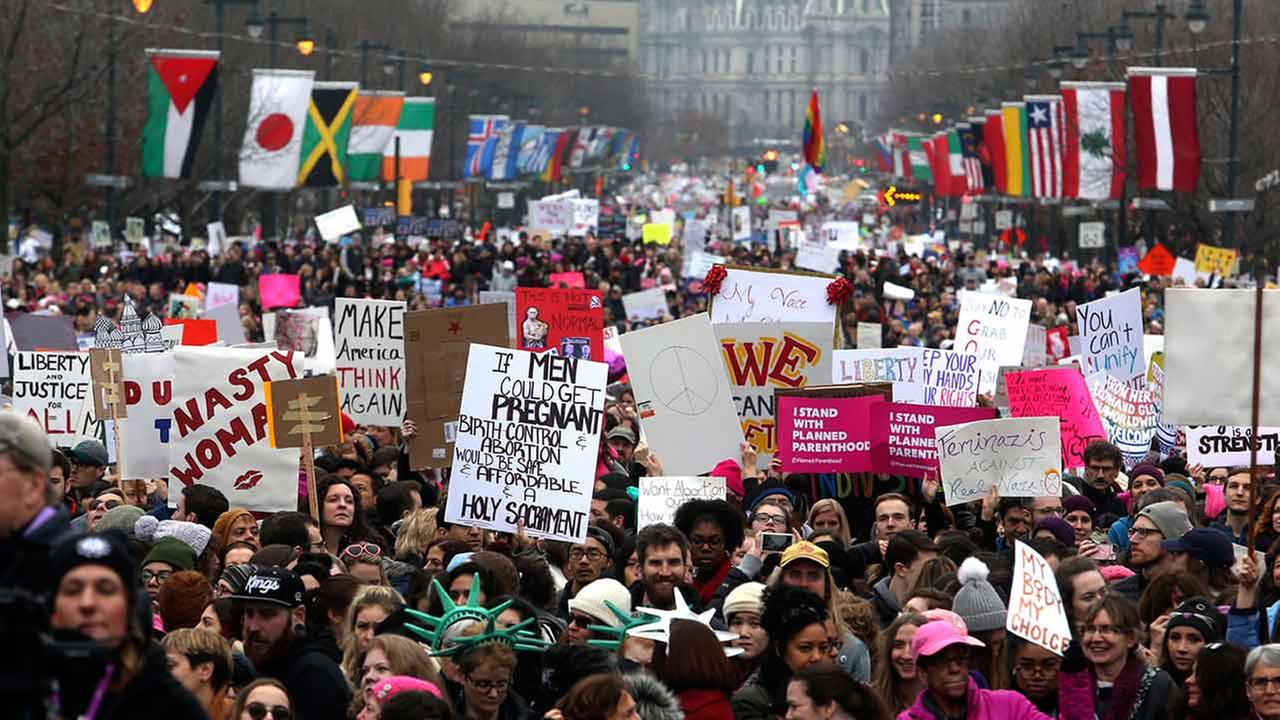Womens March on Philadelphia Saturday, January 21, 2017 (AP Photo/Jacqueline Larma