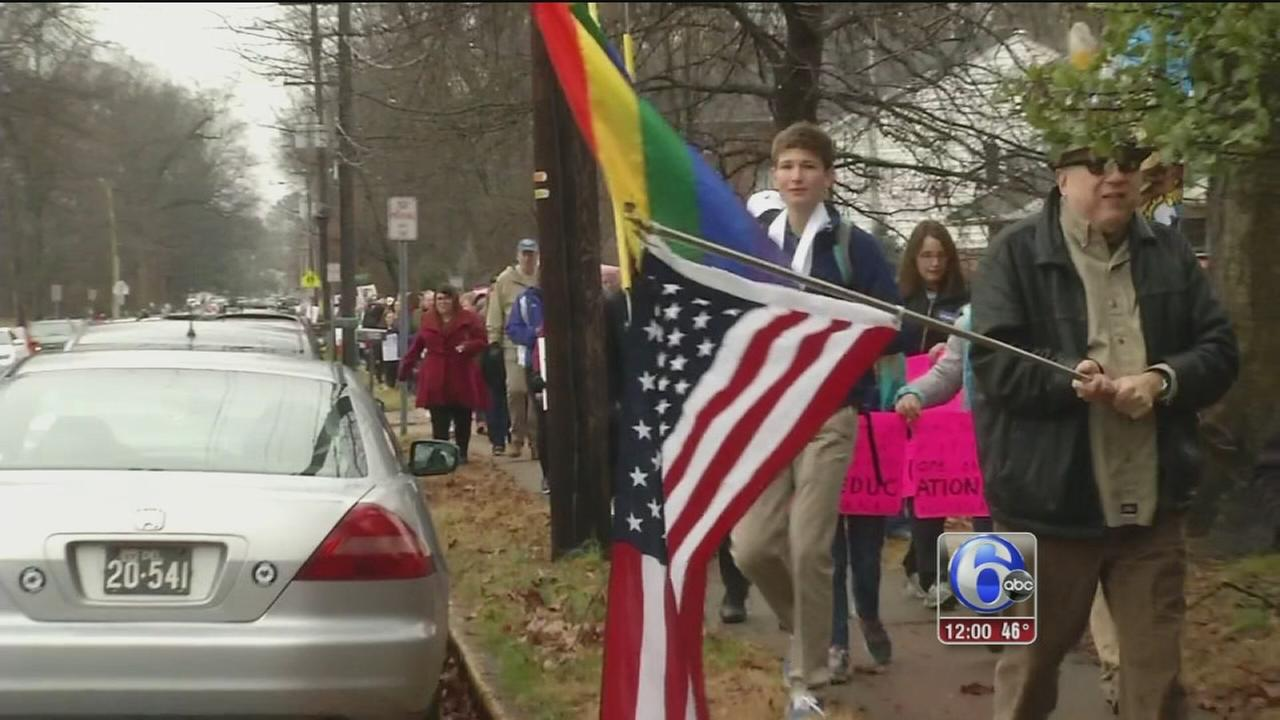 Women march in Delaware and New Jersey