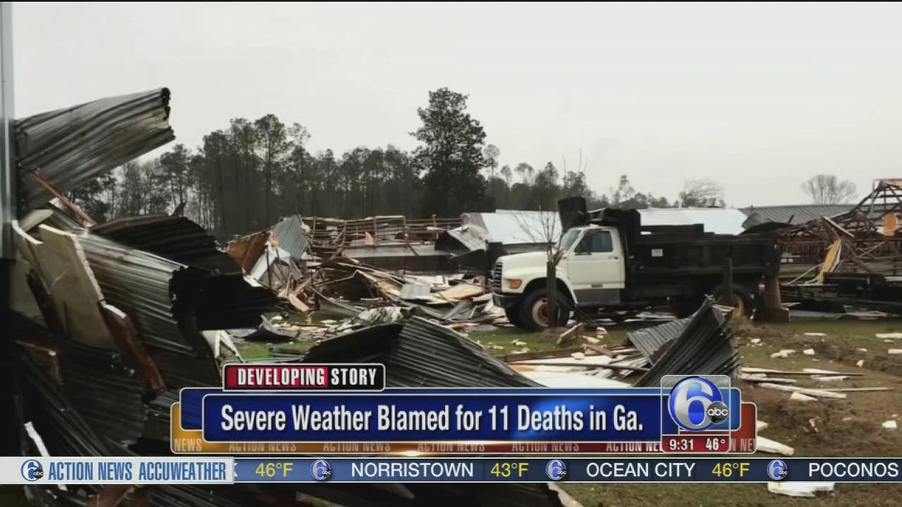 11 Dead as Tornadoes Hit Georgia