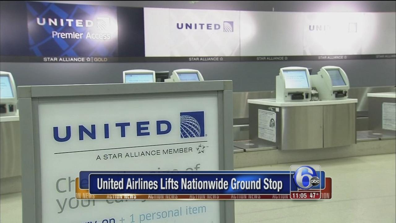 United Airlines lifts ground stop
