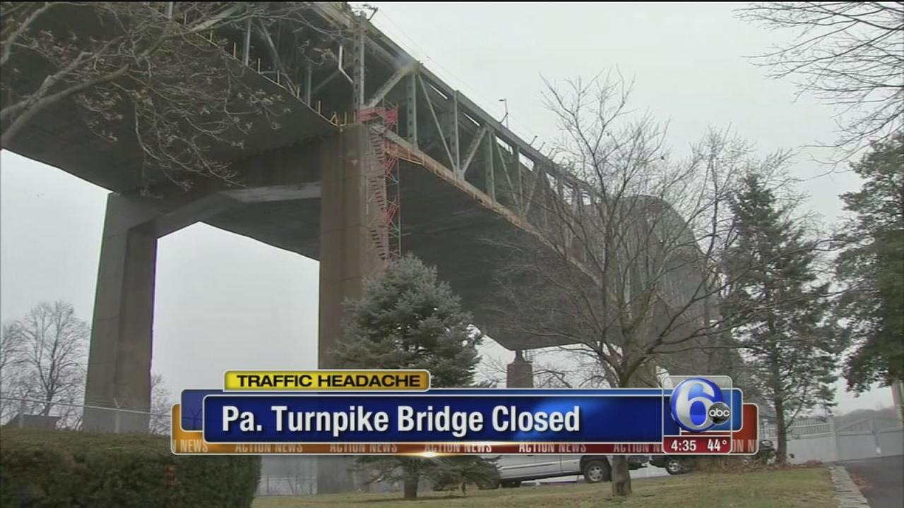 Pa. Turnpike bridge closure causes headaches