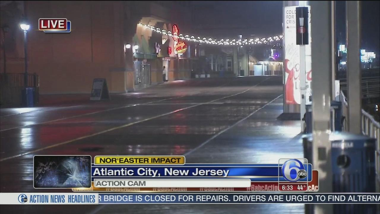 Noreaster arrives at Jersey shore