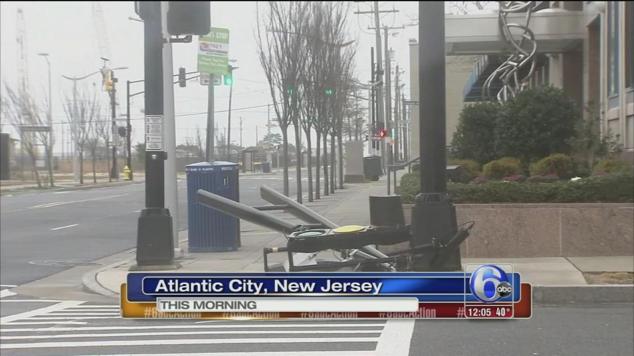 Winter noreaster pounds Jersey shore