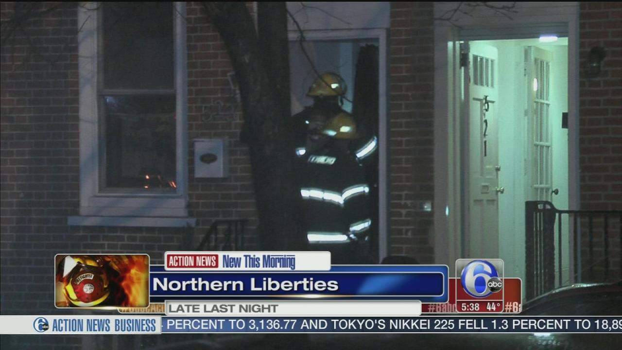 Fire damages row house in NoLibs