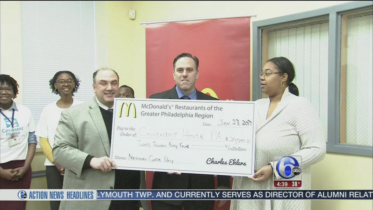 McDonalds java fueled donation