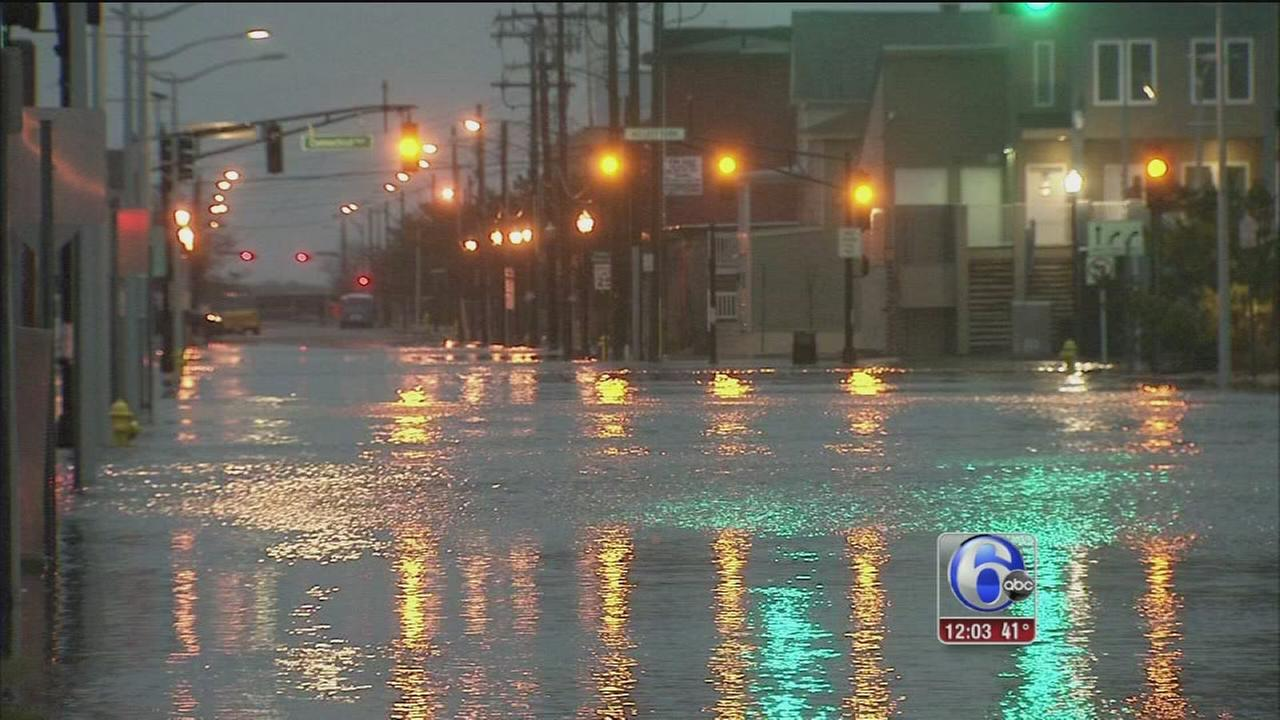 Jersey shore feels the impact of noreaster