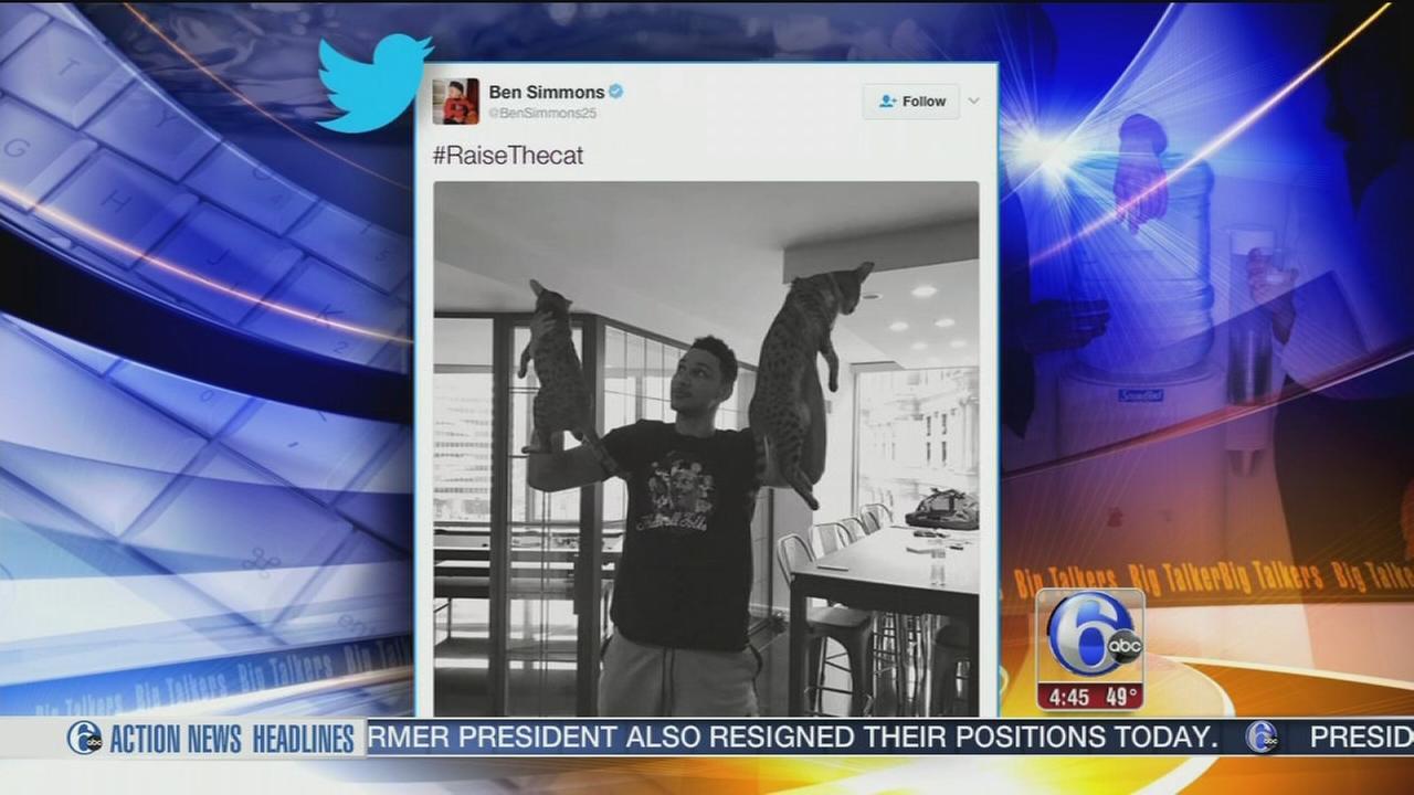 Sixers fans #RaiseTheCat to celebrate teams recent success