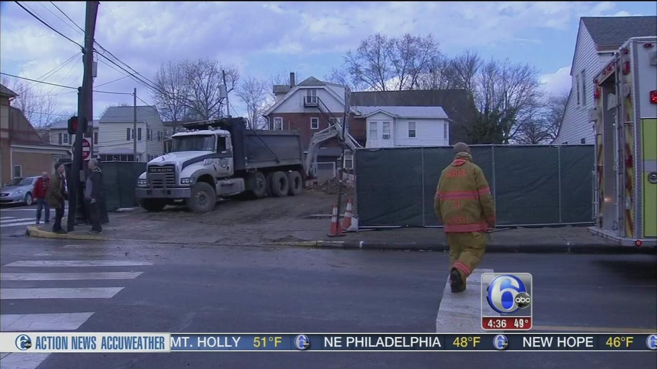 Crews rescue man stuck in hole in Bucks County