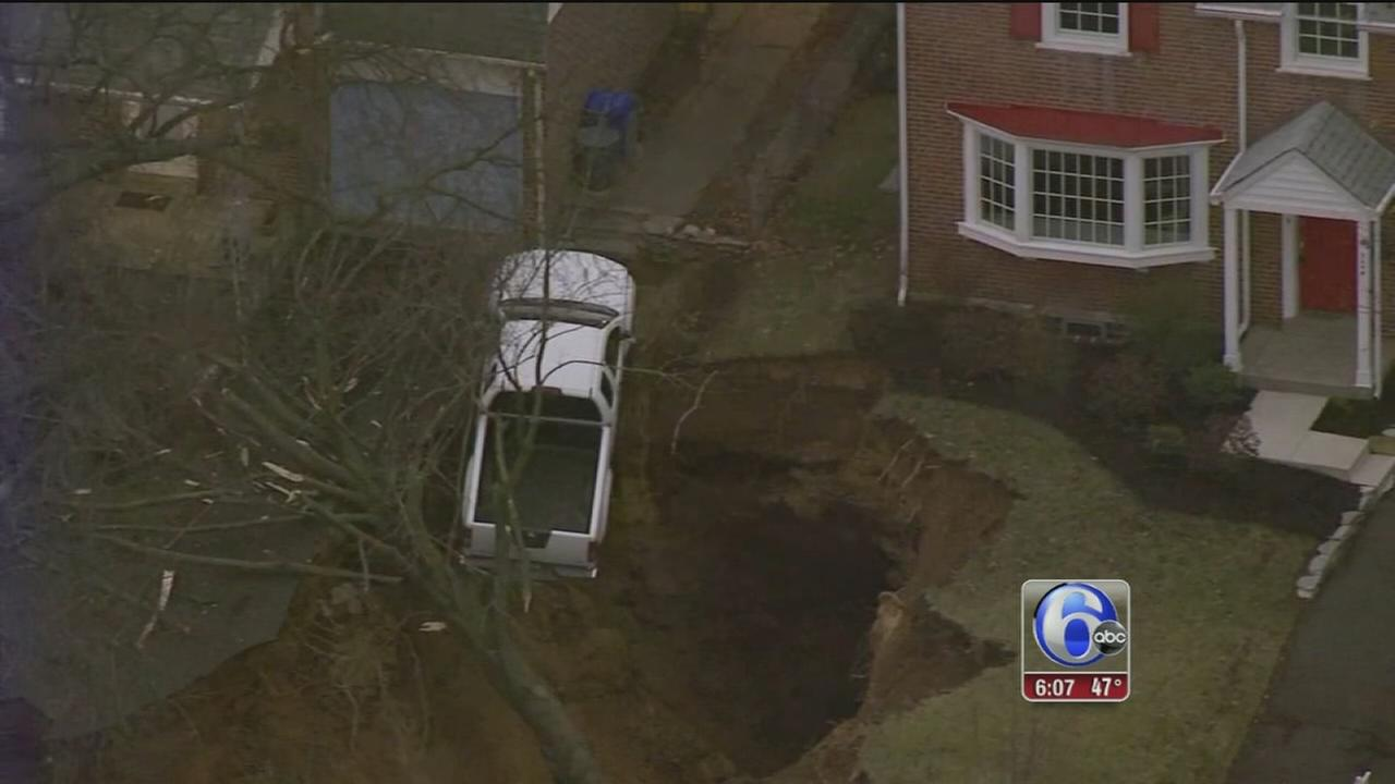 Repairs continue to Glenside sinkhole