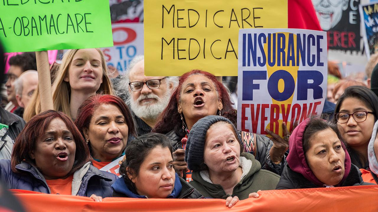 Pictured: Protesters in Philadelphia during President Donald Trumps visit to address GOP leaders on Thursday, January 26.