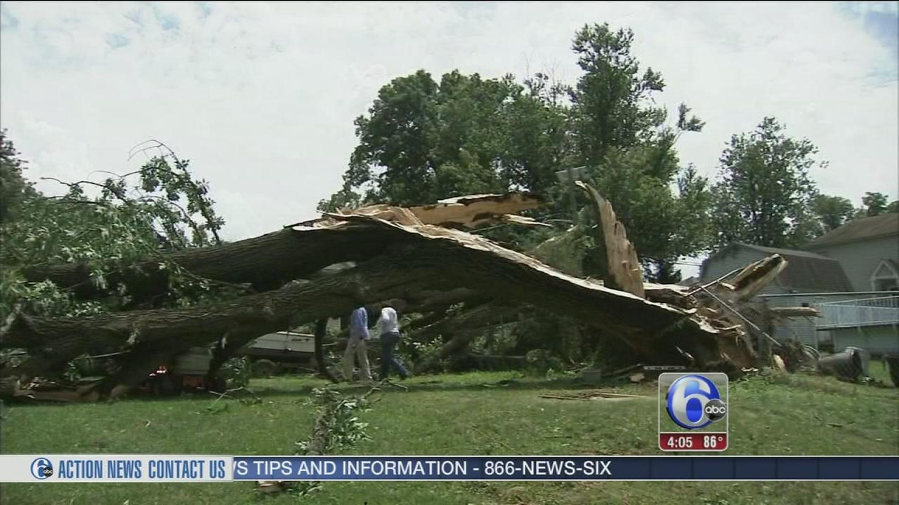 VIDEO: Storm cleanup continues in Burlington County
