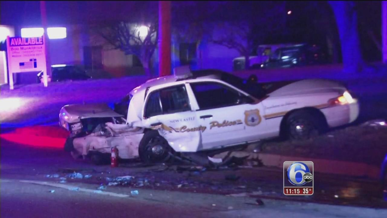 Police officer, civilian injured in New Castle County collision