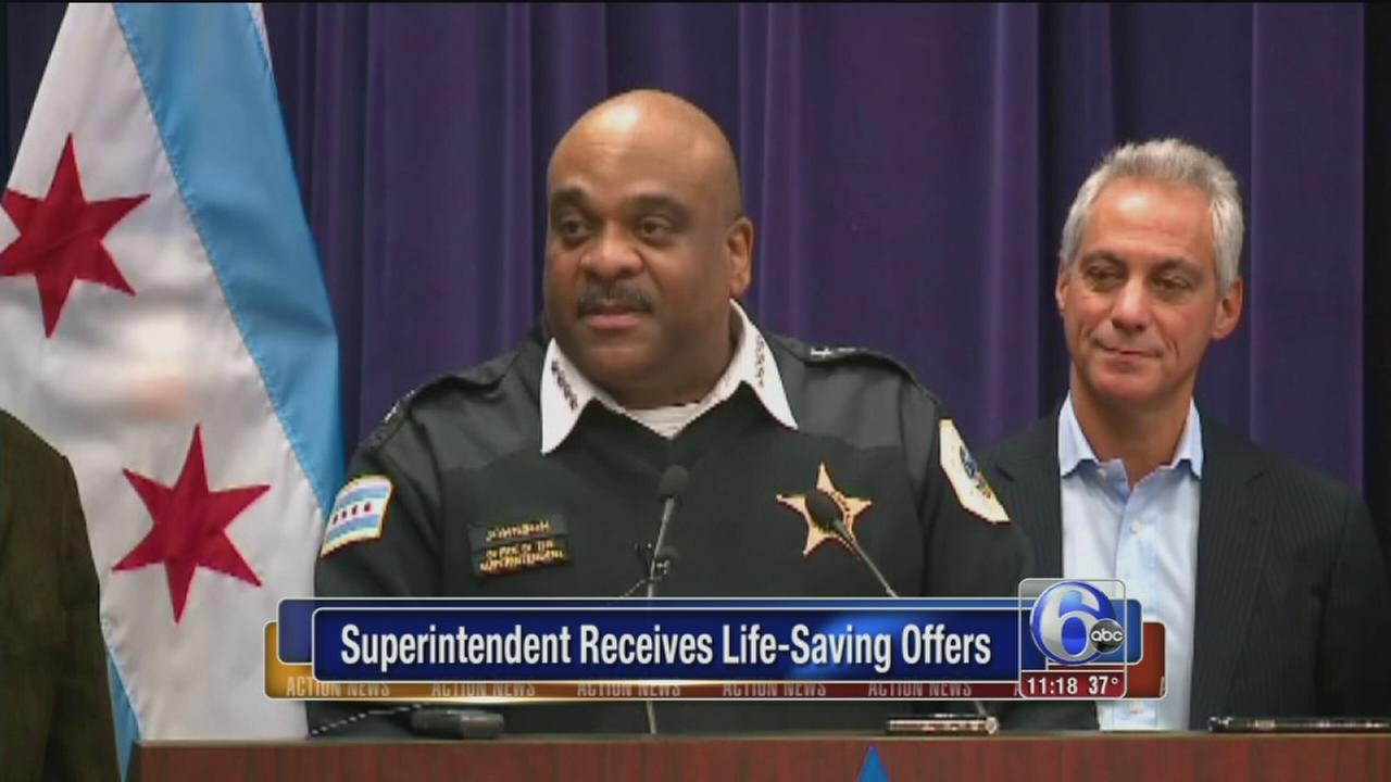 Chicago Police Superintendent: Kidney donation offers humbling
